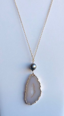 Single Pearl Necklace - TC12